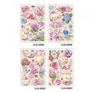 (Jewelry&Glitter) 3D Decoupage Sticker series