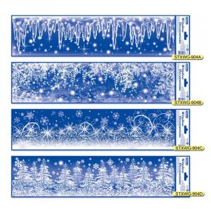 STXWG-904A~D Christmas Glitter Window Decorations Series