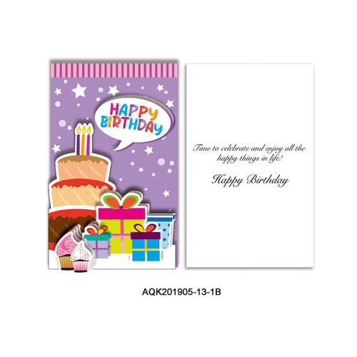 Birthday Glitter 3-Folded 3D Card Kit
