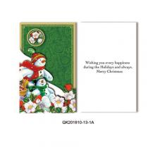 Christmas glitter 3-folded 3D Card Kit